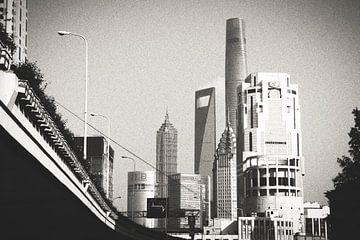 Skyline von Shanghai von Erik Juffermans
