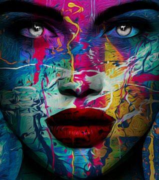 Just Face - Splash Pop Art - 261 von Felix von Altersheim