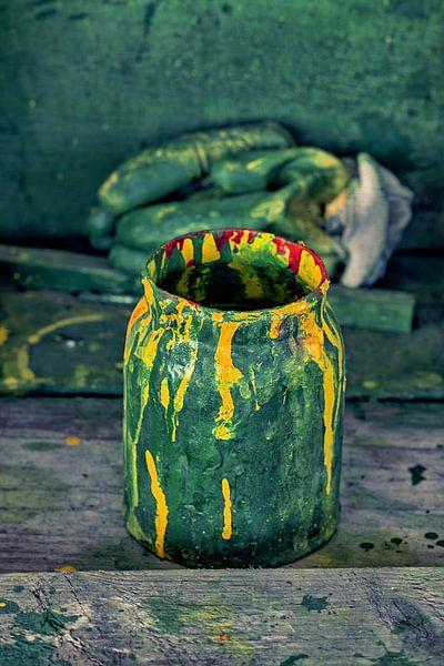 Verfpot groen van Rob van der Teen