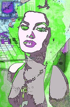 Sophia Loren green van PictureWork - Digital artist