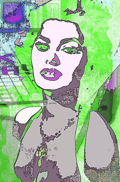 Sophia Loren green von PictureWork - Digital artist