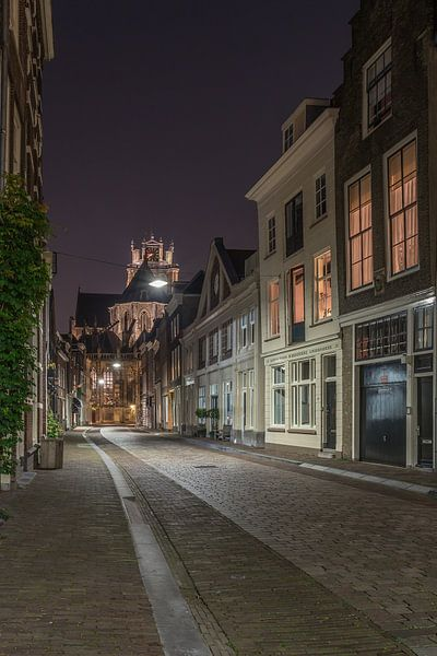 Grote Kerk in Dordrecht in de avond van Tux Photography