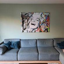 Klantfoto: Marilyn Monroe Urban Collage Pop Art Pur van Felix von Altersheim, op aluminium