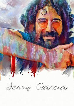 jerry garcia  -   Art Poster Print van MD JO