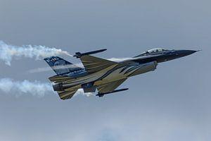 Demo F-16 van de Belgische luchtmacht geeft een demonstratie van Arjan van de Logt