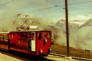Bergtrein in Zwitserland van Anne Reitsma