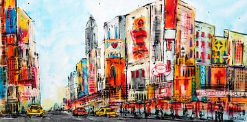New York Zeichnung von Corrie Leushuis