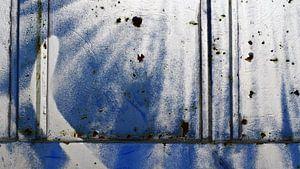 Warehouse Door (Fragment) Blue/White/Rust