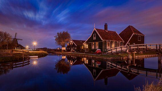 Sunset @ Zaanse Schans van Michael van der Burg