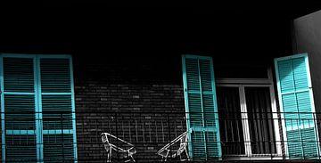Vintage Balcony van 10x15 Fotografia