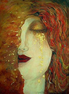 Les Larmes d'or. Inspiré par Gustav Klimt sur Ineke de Rijk