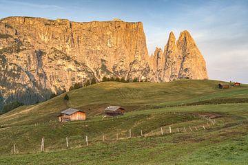 Sciliar et Santner Peak dans le Tyrol du Sud
