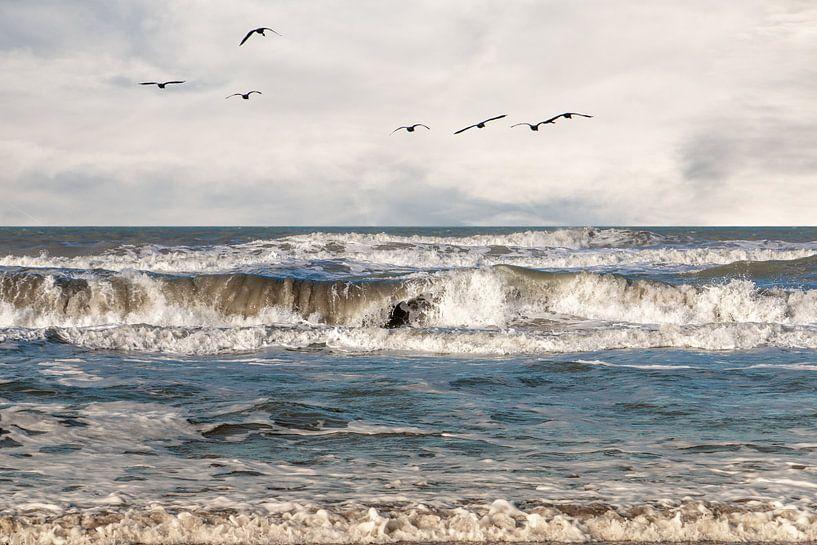 De Noordzee op een winterse dag bij Hoek van Holland van Henk Hulshof