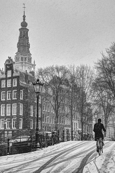 Binnenstad van Amsterdam in de Winter van Hendrik-Jan Kornelis
