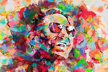 Jonge man met zonnebril van Peter Roder