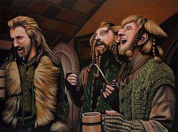 Zwerge aus Der Hobbit Gemälde von Paul Meijering