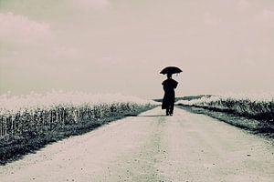 koolzaad pad met lopend figuur van marleen brauers