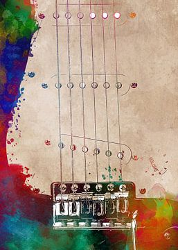 Gitaar 9 muziekkunst #gitaar #muziek van JBJart Justyna Jaszke