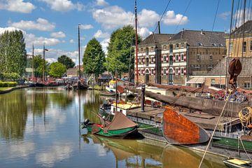 Oude haven van Gouda van Jan Kranendonk
