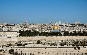 jerusalem skyline van Compuinfoto .
