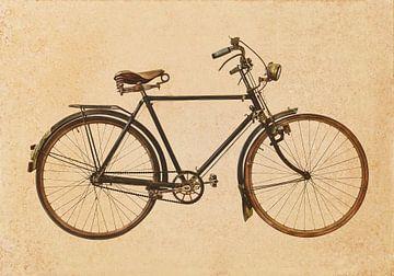 Retro Stil Bild eines alten rostigen Fahrrad von Martin Bergsma