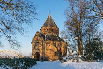 Sint Nicolaaskapel in Nijmegen in de sneeuw