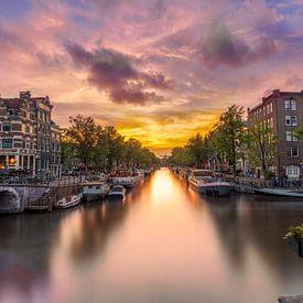 Zonsondergang Papiermolensluis Amsterdam van Dennisart Fotografie