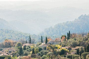 Schitterend landschap aan de Côte d'Azur in Frankrijk van Rosanne Langenberg