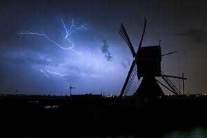 Blitz mit Windmühle