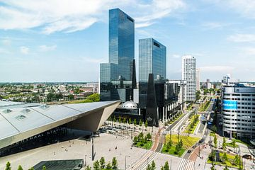 Het centrum district in Rotterdam van