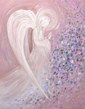 Engel beeld - rose van Christine Nöhmeier