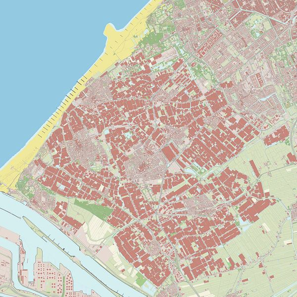 Kaart vanWestland van Rebel Ontwerp