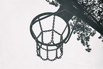 Panier de basket-ball - Minimalisme Hyperstyle - Hyperréalisme sur Jakob Baranowski - Off World Jack