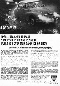 WERBUNG 1962 DKW von Jaap Ros