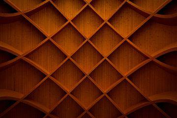 Construction géométrique en bois sur Hildisvini