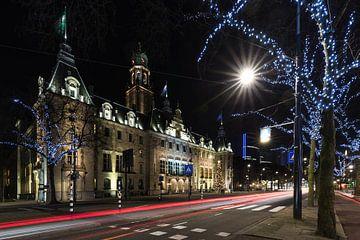 Het stadhuis op de Coolsingel in Rotterdam in de avond van MS Fotografie | Marc van der Stelt