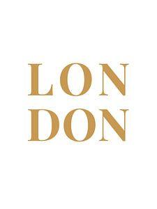LONDON (in wit/goud) van MarcoZoutmanDesign