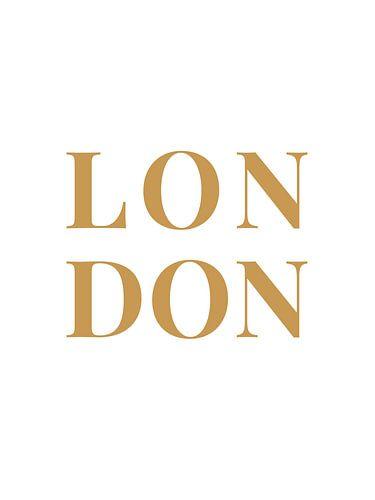 LONDON (in wit/goud)