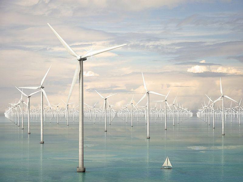 Duizend windmolens op zee - lentebries van Frans Blok