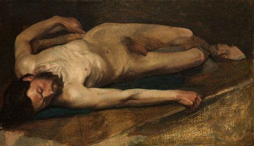 Mannelijke Naakt, Edgar Degas van Meesterlijcke Meesters