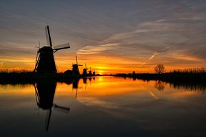 Sunrise Kinderdijk van Jos Krick Photography