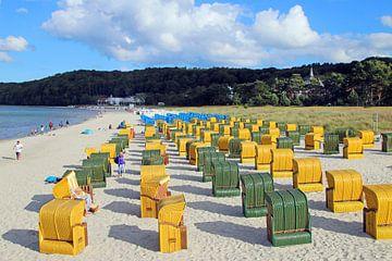 Strandkörbe an der Ostsee van