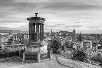 Edinburgh Calton Hill zwart-wit