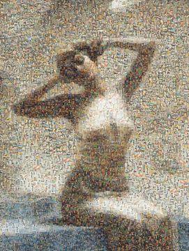 Mosaik Frau beim Bad, Theodoros Ralli