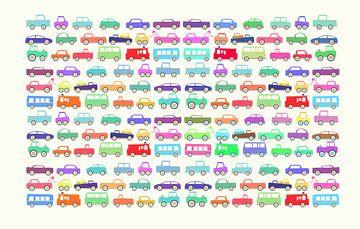 Jouets - beaucoup de voitures sur Joost Hogervorst