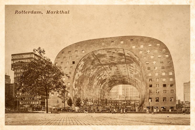 Oude ansichten: Rotterdam Markthal van Frans Blok