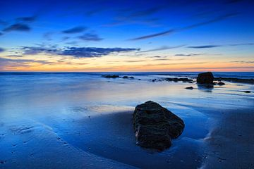 coucher de soleil le long de la côte hollandaise sur gaps photography