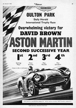 The Autocar Aston Martin DBS3 raceauto advertentie uit 1956 van Atelier Liesjes