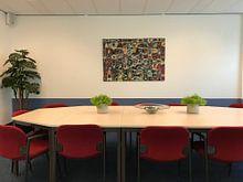 Photo de nos clients: Mouche des fleurs sur GOOR abstracten, sur toile