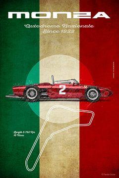 Ferrari 156 F1 bij Monza van Theodor Decker